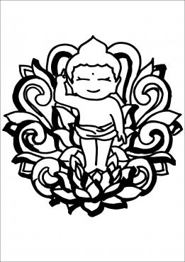 Bộ Tranh Tô Màu Chủ Đề Phật Đản Cho Các Em Nhỏ