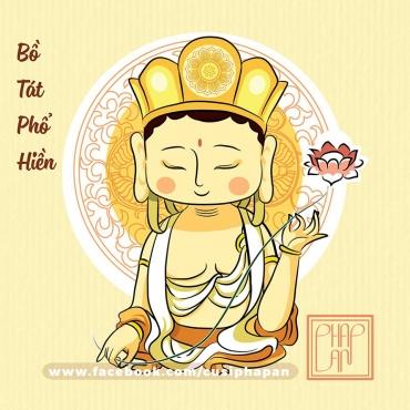 Bộ tranh chibi đen trắng các vị Phật dành cho bé tập tô màu 1