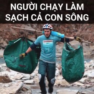 Người chạy làm sạch cả con sông