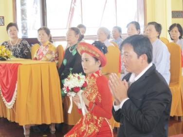 Lễ Hằng Thuận: Phật tử Quang Chiến & Thiên Vân ngày 28 tháng 09 năm Bính Thân-2016