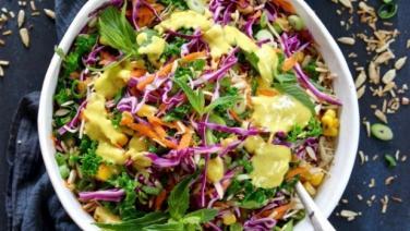 Món chay cuối tuần: Salad cầu vòng