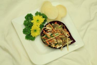 Món chay cuối tuần: Gỏi tâm dừa