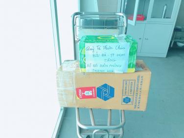 Chùa Bửu Đà: 2000 khẩu trang vải kháng khuẩn chia sẻ đến các chiến sĩ đồn biên phòng Tén Tằn - Thanh Hóa
