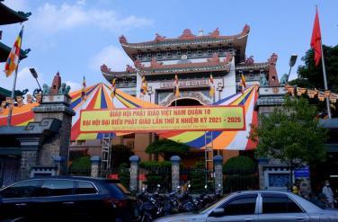 Đại hội đại biểu Phật giáo quận 10 lần thứ X nhiệm kỳ 2021-2026 thành công tốt đẹp