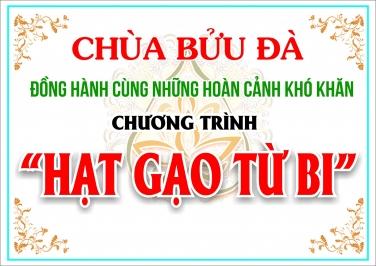 Chương Trình: Hạt Gạo Từ Bi của chùa Bửu Đà