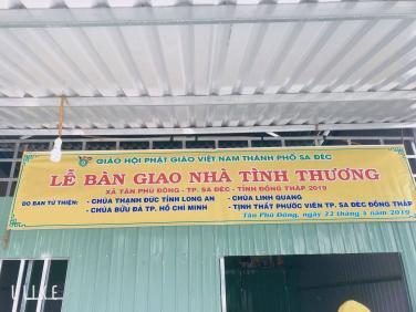 Quỹ Từ Thiện chùa Bửu Đà chung tay xây nhà tại Sa Đéc - Đồng Tháp