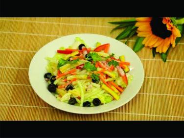 Món chay cuối tuần: Salad nui