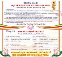 Chùa Bửu Đà: chương trình Kính mừng Lễ Phật Đản  Pl: 2564 - Dl: 2020