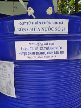 Chùa Bửu Đà: tổng kết chương trình trao tặng bồn nước hỗ trợ bà con miền Tây bị hạn mặn
