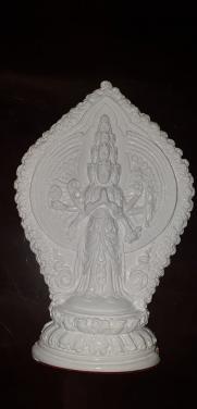 Tượng Quan Âm Thiên Thủ Thiên Nhãn (Thạch cao)