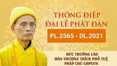 Thông điệp Đại lễ Phật Đản PL.2565 - DL.2021 của Đức Pháp Chủ GHGPVN