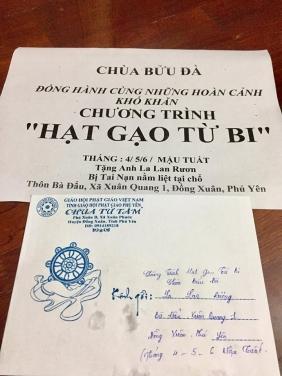 Chùa Bửu Đà: chương Trình Hạt Gạo Từ Bi - Khu vực Phú Yên tháng 6,7,8/2018
