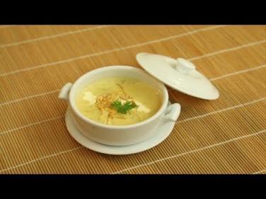Món chay cuối tuần: Súp khoai lang nấm kim châm
