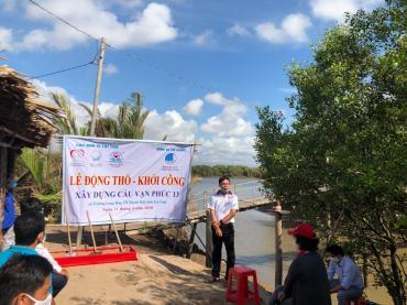 Thông báo: Tiến độ thi công xây dựng cầu Vạn Phúc 13