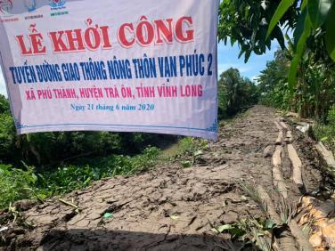 Chùa Bửu Đà: Lễ khởi công xây dựng đường nông thôn Vạn Phúc 02 tại Vĩnh Long