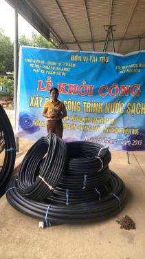 Lễ khởi công xây dựng đường dẫn nước trường mầm non Hồng Vân (Huế)