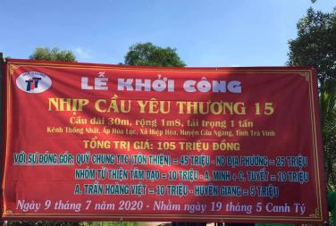 Chùa Bửu Đà: Lễ khởi công xây dựng Nhịp cầu yêu thương tại Trà Vinh