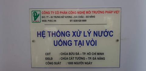Chùa Bửu Đà: dàn lọc nước sạch tại Quảng Nam phát huy tác dụng