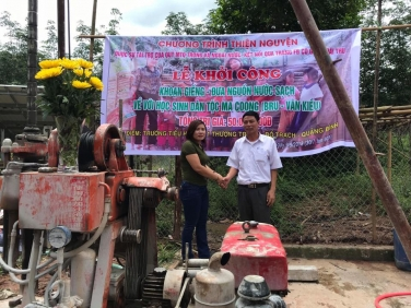 Chùa Bửu Đà chung tay khoan giếng tại trường Tiểu học số 1 (Quảng Bình)