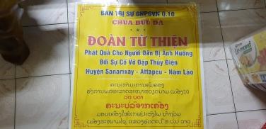Chùa Bửu Đà: chuyến từ thiện hỗ trợ bà con bị vỡ đập tại - Attapeu - Nam Lào