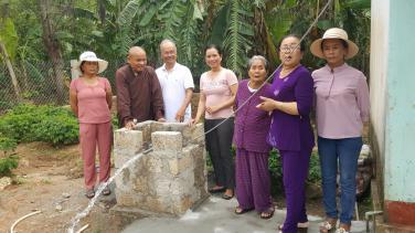 Quỹ từ thiện chùa Bửu Đà chung sức khoan giếng tại Gio Linh (Quảng Trị)
