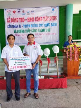 Chùa Bửu Đà: Tiến độ thực hiện công trình đường đèn chiếu sáng tại Vĩnh Long