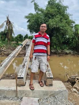 Thông báo tiến độ xây dựng cầu Nhân Ái