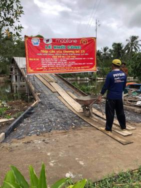 Chùa Bửu Đà: chung sức đóng góp xây dựng cầu Xóm Lung tại Cà Mau