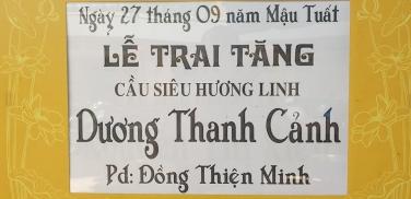 Lễ Trai Tăng chung thất trai tuần Phật tử Dương Thanh Cảnh - Pd: Đồng Thiện Minh