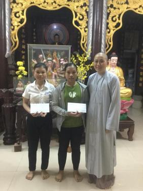 Chùa Bửu Đà trao học bổng tháng 11/2018 đến 3 em học sinh khó khăn