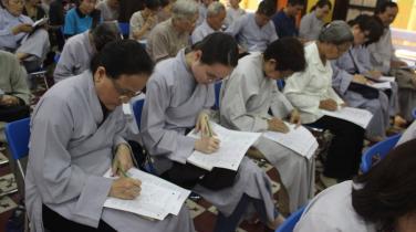 Sáng nay 3-11: Hơn 4.000 Phật tử đồng loạt thi giáo lý