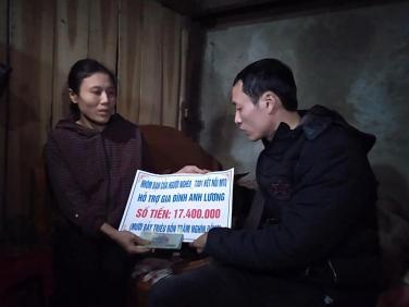 Chùa Bửu Đà chung tay giúp đỡ hoàn cảnh anh Lương ở Quảng Bình