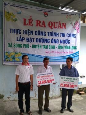 Chùa Bửu Đà: Khởi công chương trình Đường ống dẫn nước sạch tại Vĩnh Long