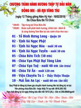Hành Hương Thập Tự đầu xuân Kỷ Hợi của chùa Bửu Đà