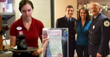 Nữ phục vụ âm thầm trả tiền bữa sáng cho hai người lính cứu hỏa & cái kết không thể ngờ...