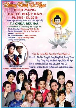 Đêm Nhạc: Kính Mừng Phật Đản PL.2562 - DL.2018 tại chùa Bửu Đà
